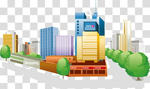 Urban area Rural area , bustling city area PNG clipart