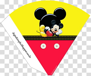 Mickey Mouse Minnie Mouse Pluto Party, Napkin PNG
