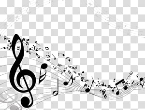 many read music notes composition PNG