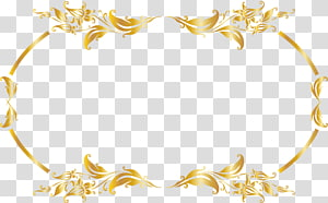 luxury gold border PNG