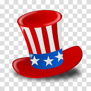 red, blue, and white USA hat illustration, Happy Fourth Of July Hat PNG clipart