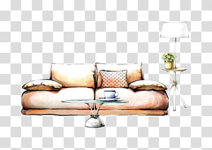 Interior Design Services Painting Drawing Decorative arts, Hand-painted sofa PNG clipart