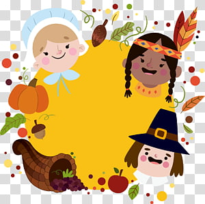 Thanksgiving , Thanksgiving kids PNG clipart