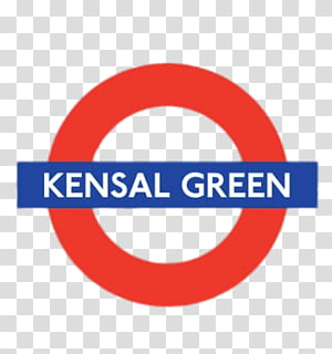 round red and blue Kensal Green logo, Kensal Green PNG