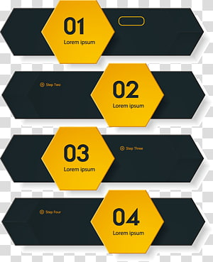 yellow and black template, Network Information graphic design material PNG