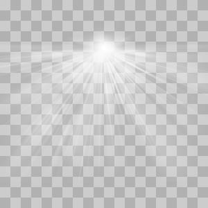 Black and white Symmetry Daytime Pattern, Radioactive light effect, time-lapse grayscale PNG clipart