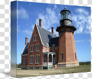 Block Island Southeast Light Lighthouse Middle Ages Facade Property, lighthouse drawing PNG clipart