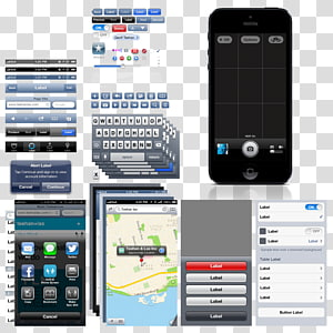 Mobile phone interface PNG
