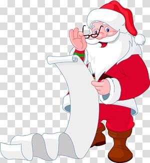 Santa Claus Wish list , santa claus PNG clipart