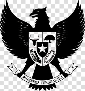 black Hinneka Tunggal Ika logo illustration, National emblem of Indonesia Garuda Indonesia Pancasila, indonesia PNG clipart