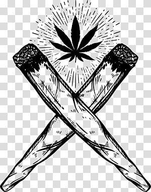 black cannabis graphic, Joint Drawing Cannabis smoking, Cannabis Joint PNG
