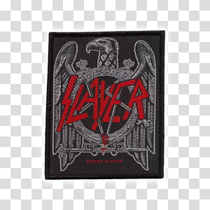 Slayer Heavy metal Reign in Blood Embroidered patch Eagle, Thrash Metal PNG