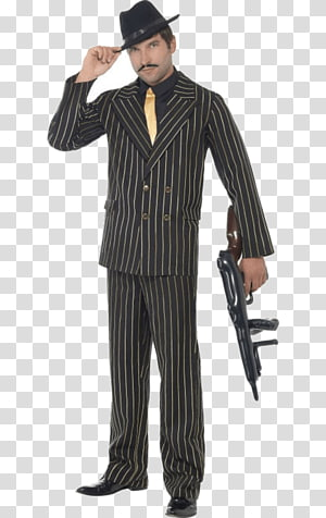 Suit Costume party Pin stripes Gangster, suit PNG