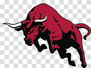 red bull illustration, Bull , Bull PNG clipart