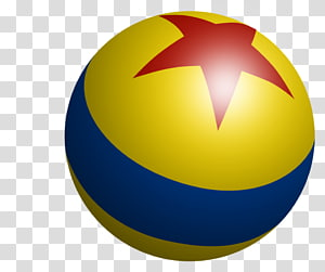 blue, red, and yellow ball with star illustration, Pixar Toy Story Luxo Jr., Sesame Street Ball YouTube, pixar PNG