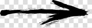 Ink Monochrome , arrow sketch PNG clipart