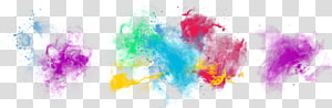 a plurality of color ink pattern rainbow smoke PNG clipart