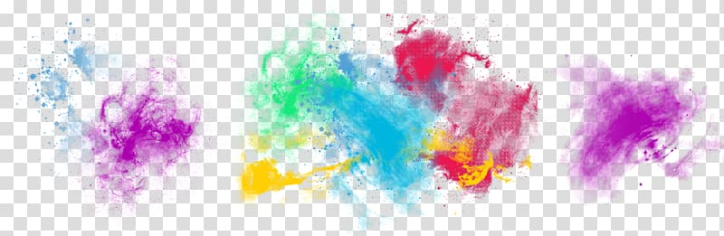 a plurality of color ink pattern rainbow smoke PNG