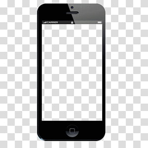 black iPhone 4 displaying blue screen, Telephone Template Android Computer file, Phone PNG
