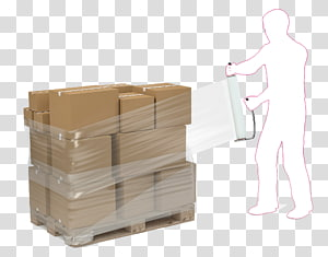 Plastic bag Stretch wrap Pallet Plastic recycling Packaging and labeling, box PNG clipart