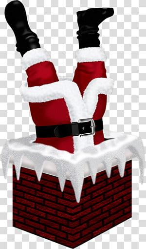 santa chimney PNG clipart