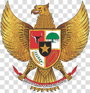 gold eagle with seal illustration, Proclamation of Indonesian Independence Pancasila National emblem of Indonesia, indonesia PNG clipart