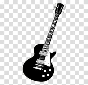 Electric guitar Vintage guitar, Black guitar PNG