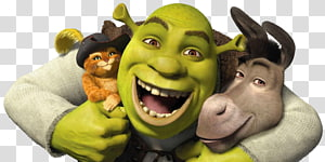Shrek The Musical Princess Fiona Donkey Puss in Boots, others PNG