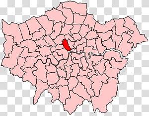 London Borough of Islington Crayford London boroughs Blank map, map PNG clipart