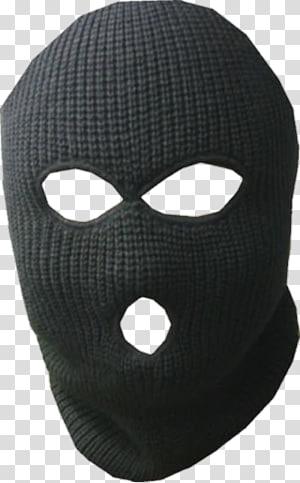black balaclava, Balaclava Mask Skiing Robbery Hood, mask PNG