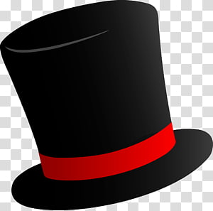 black and red top hat , Willy Wonka Top hat Party hat , Cylinder Hat PNG