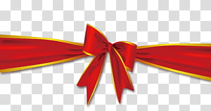 With Ribbon Red, Ribbon bow PNG clipart