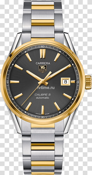 TAG Heuer Carrera Calibre 5 Automatic watch Chronograph, watch PNG
