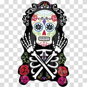 La Calavera Catrina Day of the Dead Halloween Death, Halloween PNG