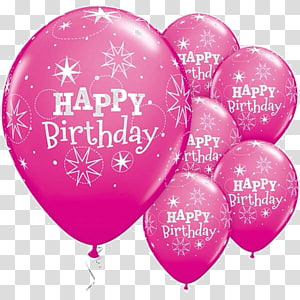 Balloon Birthday Party Purple Greeting & Note Cards, birthday blessing PNG clipart