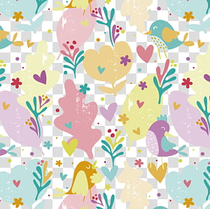 yellow and pink flowers , hand painted simple pattern background material PNG clipart