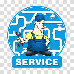 illustration Illustration, A cartoon worker with a spanner PNG