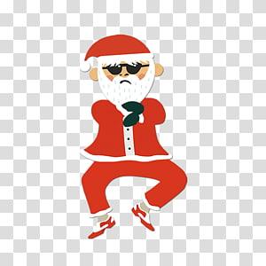 funny cartoon santa claus PNG clipart