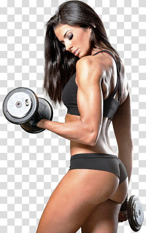 woman holding pair of dumbbells, Dietary supplement Bodybuilding supplement Physical fitness Muscle Fitness Centre, bodybuilding PNG