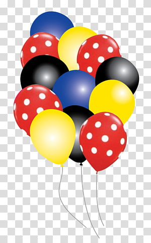 assorted-color balloons , Mickey Mouse Minnie Mouse Oswald the Lucky Rabbit Balloon Party, mickey mouse PNG