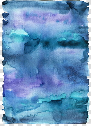 teal and purple graphic art, Paper Watercolor painting, Blue paint brush PNG clipart