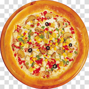 Hamburger Pizza Fast food Vegetarian cuisine, Pizza PNG clipart