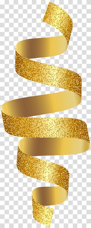 Gold Ribbon , ribbon PNG clipart