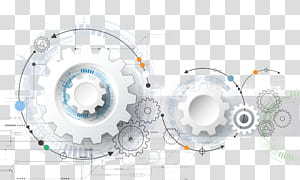 Technology Euclidean Engineering Gear, technology elements, white sprocket illustration PNG clipart