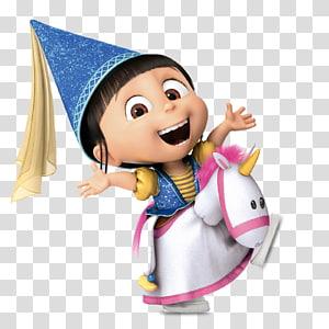 Despicable Me riding on unicorn , Agnes Despicable Me Felonious Gru , despicable me PNG clipart