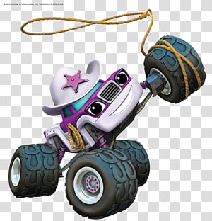 white and magenta monster truck , Darington Nickelodeon , others PNG clipart