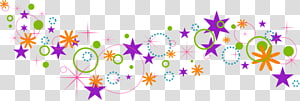colored stars pattern background PNG