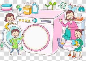 Washing machine Laundry Clothing , Cartoon washing machine PNG clipart