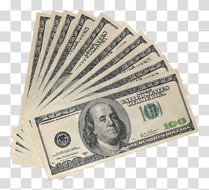 fan of 100 US dollar banknotes, United States Dollar FHA insured loan Money Banknote United States one hundred-dollar bill, Money US Dollars PNG clipart