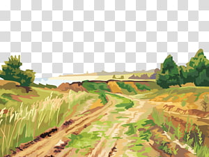 Landscape painting , Fashionable oil painting PNG clipart